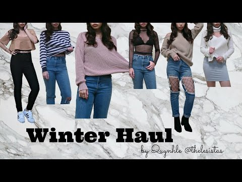 Huge Try On Winter Haul ! MISSGUIDED, ASOS, URBAN OUTFITTERS, ZARA, AND BRANDY MELVILLE