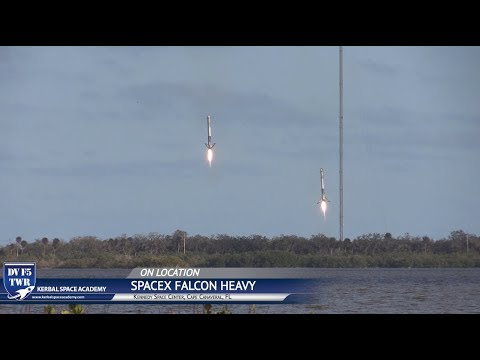 Falcon Heavy Landing - 4 Miles - Double Sonic Booms!