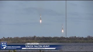 Falcon Heavy Landing - 4 Miles - Double Sonic Booms!