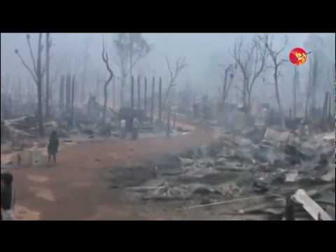 Ban Mae Surin Refugee Camp Fire