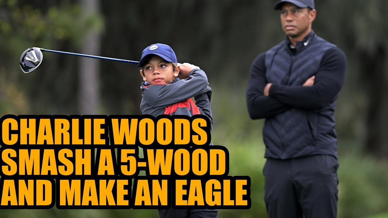 Like father, like son: Tiger Woods' kid sinks eagle at PNC ...