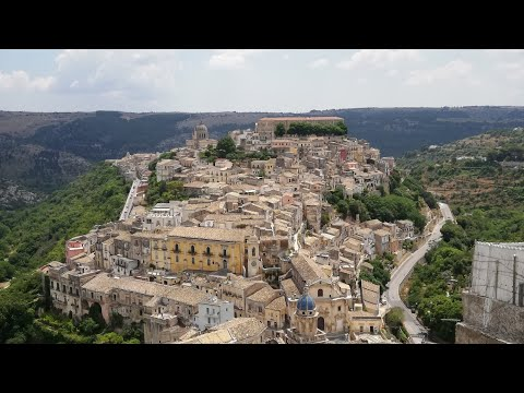 Down the stairs of Scicily's old town Ragusa Ibla UNESCO Worl Heritage. Ended with epic street food!