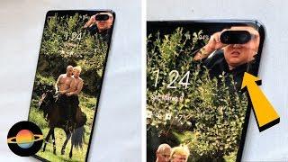 10 kreatywnych tapet na smartfony z wcięciem na aparat