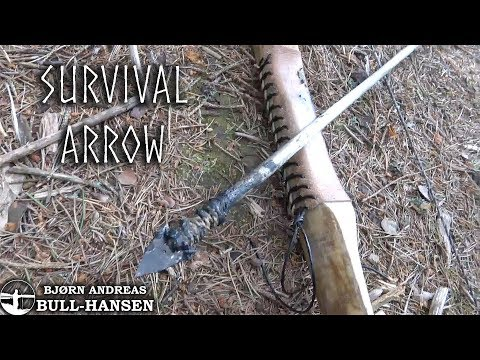 How to Make an Arrow in the Woods - Primitive Bow and Arrow