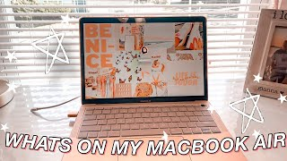 what's on my 2020 macbook air!