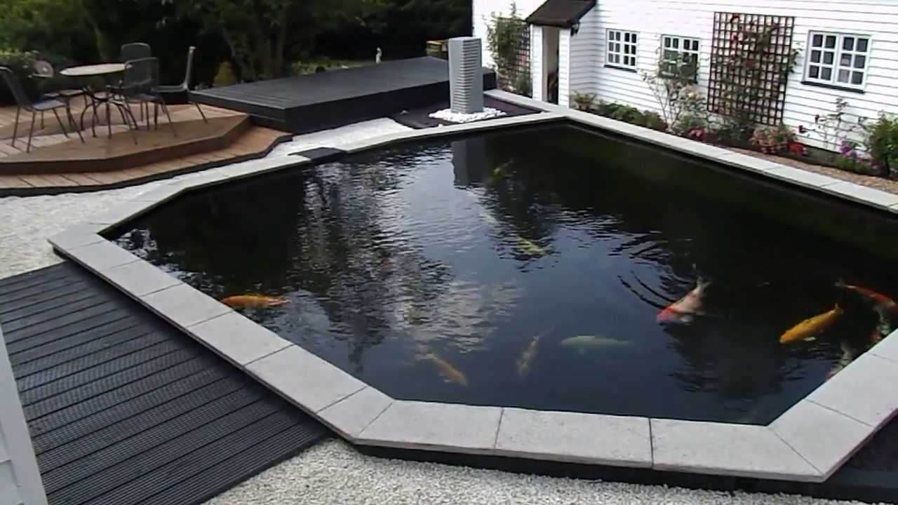 Contemporary koi pond the nishikigoi centre youtube for Modern fish pond design