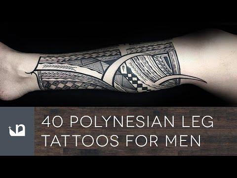 40 Polynesian Leg Tattoos For Men