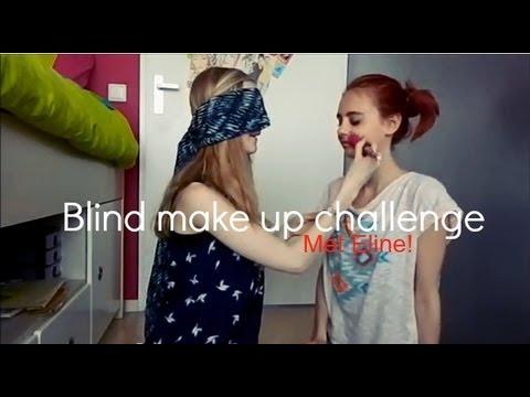 Blind make up challenge - Met Eline!