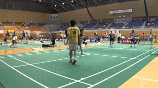石川直樹・竹内翔子VS亀ヶ森有・工藤亜紀(混合ダブルス2回戦)