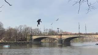 Real-life iron man in Prague - Richard Browning