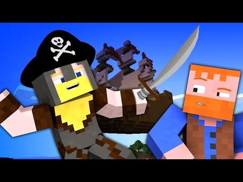 Minecraft YouTube: PIRATES OF THE SKIES (Minecraft Map: Islands of Junara, Ep.13)