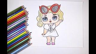 Урок рисования куклы #LOL - leading baby. Как рисовать куклу ЛОЛ с объяснениями!