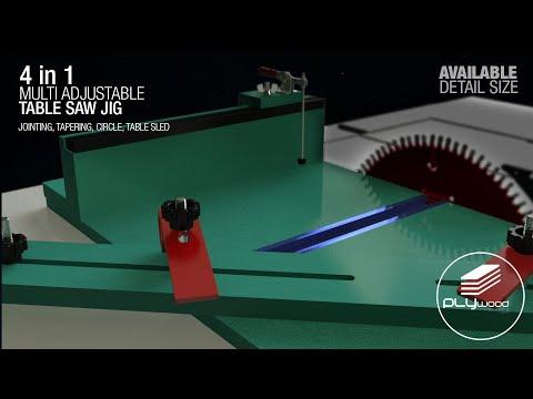 4 In 1 Multi Adjustable Table Saw Jig