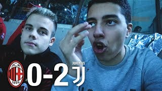 MILAN vs JUVENTUS 0-2 | LIVE REACTION TIFOSI ROSSONERI CURVA SUD HD w/Enry Lazza