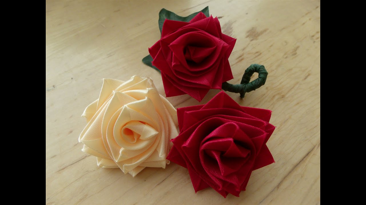 How To Make A Rose Flower With Ribbon, Boutineer Or Corsage For Mother's  Day  Youtube