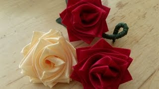 This video shows you how to make a rose out of floral ribbon. It is...