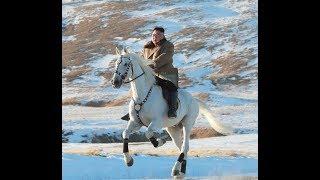 North Korea's Kim rides white horse on sacred mountain