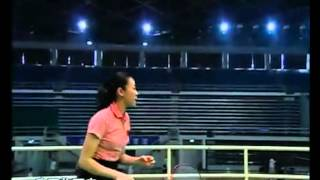 羽毛球教学 专家把脉【13】正手推球 滑板吊球