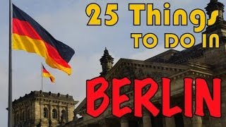 25 THINGS TO DO IN BERLIN | Europe Travel Guide(We had heard Berlin was a city bursting with art and music and we were very excited to spend some time there. Here is our list of our favorite activities to do in ..., 2014-05-16T09:30:01.000Z)