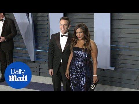 Mindy Kaling and B.J. Novak reunite at Vanity Fair Oscar Party  Daily Mail