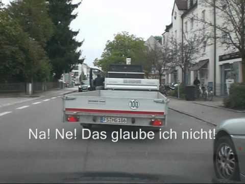 einfach mal den verkehr behindern 057 transporter mit anh nger bad driver germany youtube. Black Bedroom Furniture Sets. Home Design Ideas