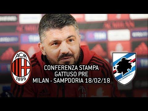 CONFERENZA STAMPA GATTUSO pre MILAN - SAMPDORIA 18/02/2018