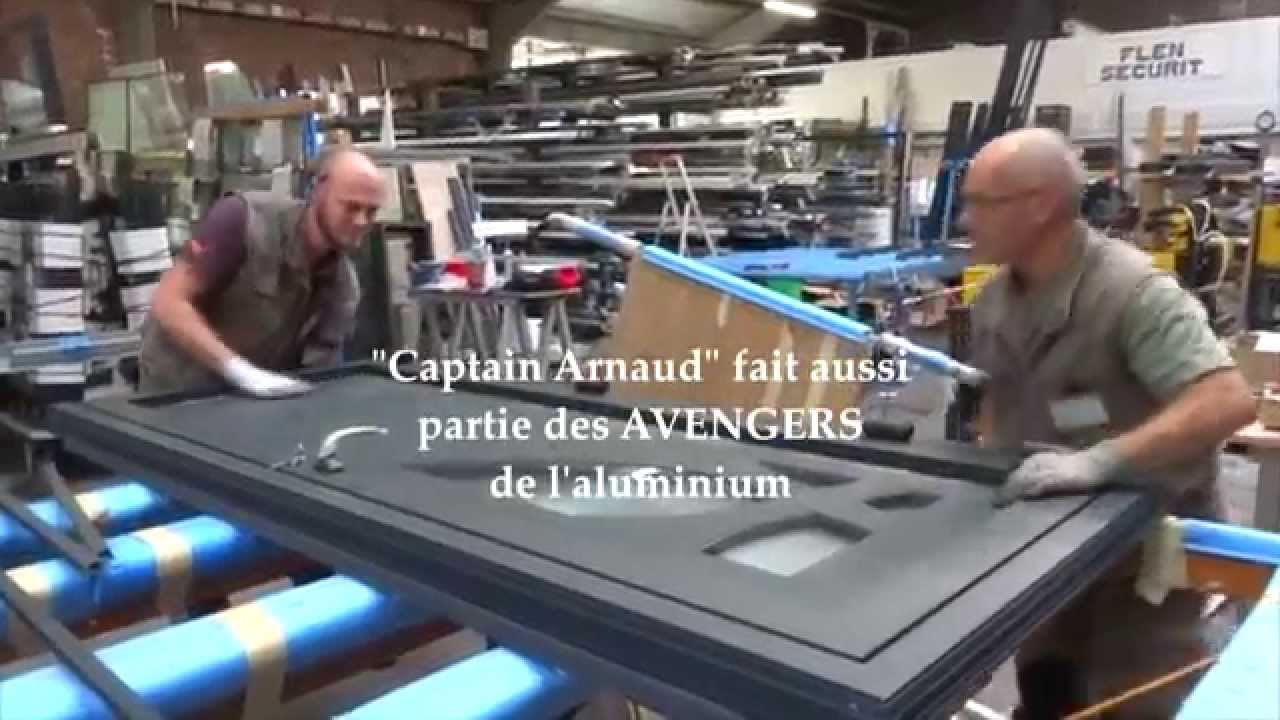 FLEN SECURIT - Fabrication Du0027une Porte Du0027entrée En Aluminium - YouTube
