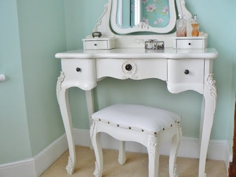 Antique Dressing Table Mirror With Drawers