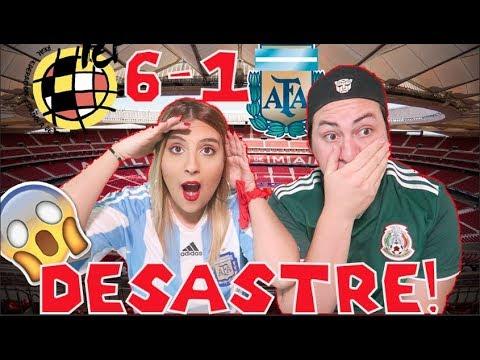 MI NOVIA ARGENTINA REACCIONA AL ESPAÑA 6-1 ARGENTINA   FUTBOL AL CHILE