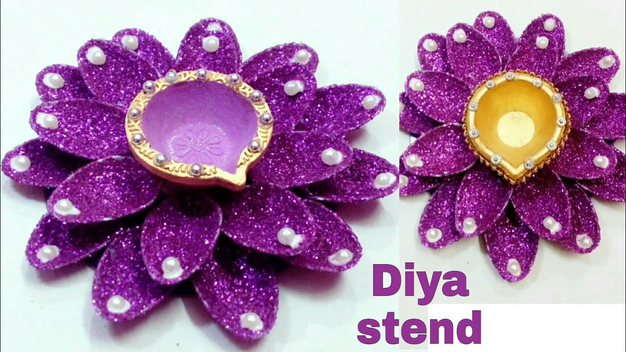 Diya Stand From Plastic Spoon Diwali Diya Decorations Idea My Art And Craft Youtube