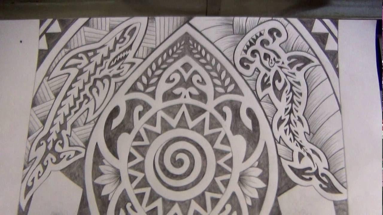 Processo De Criacao De Desenho Maori By Karina Tattoo Youtube - Fotos-de-maories