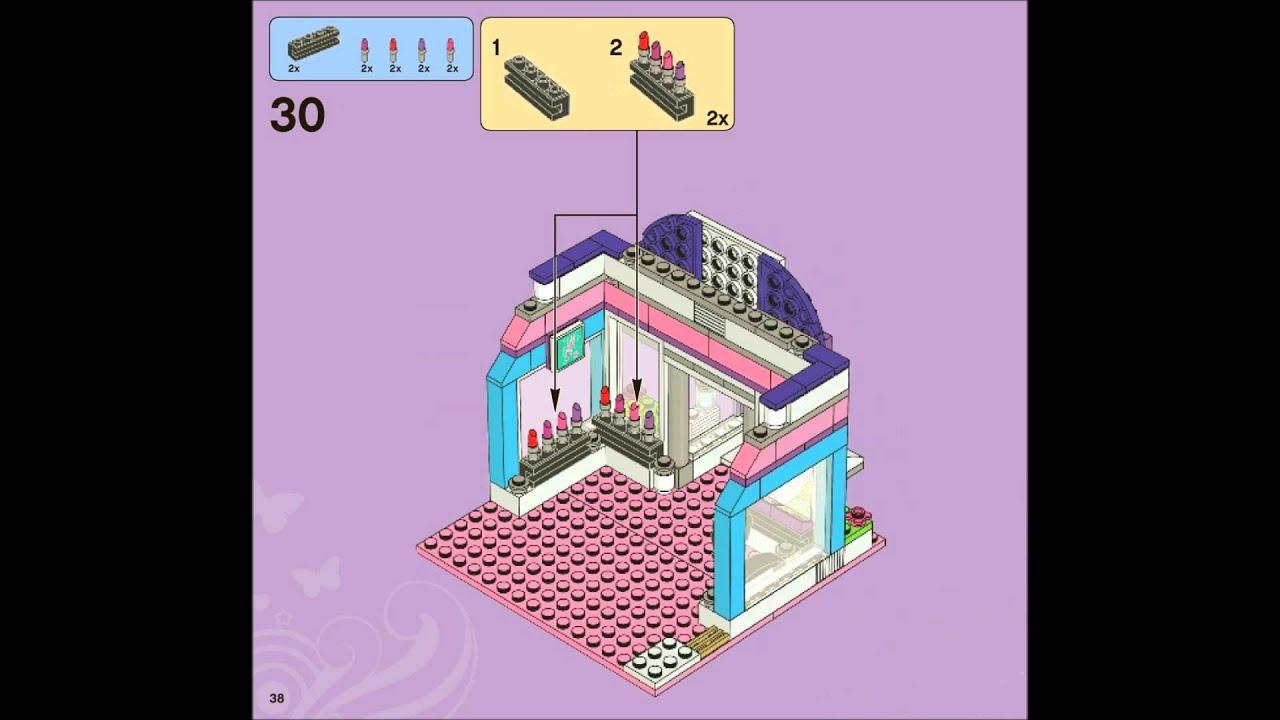 Lego Friends 3187 Butterfly Beauty Shop Building Instructions Youtube