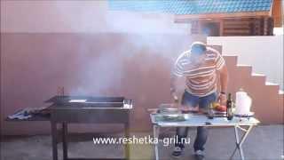 Видео-рецепт: семга гриль на чугунной решетке гриль