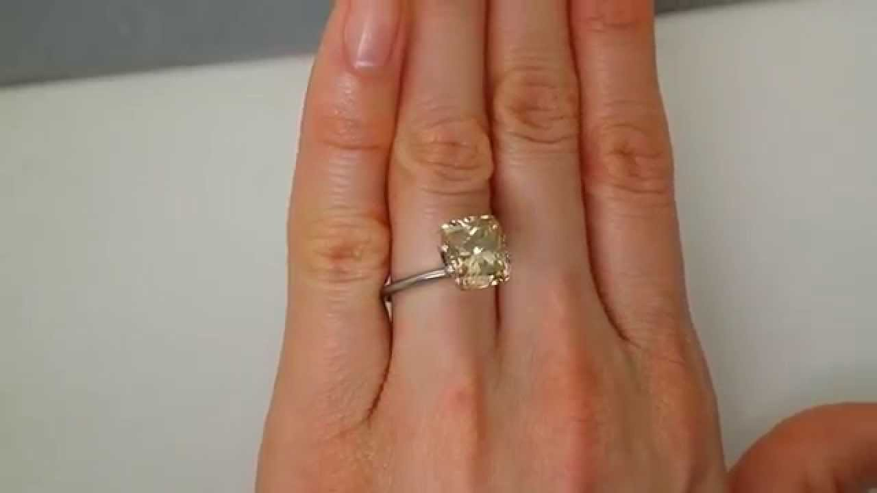 white solid diamond cut ring engagement gold cushion products carat