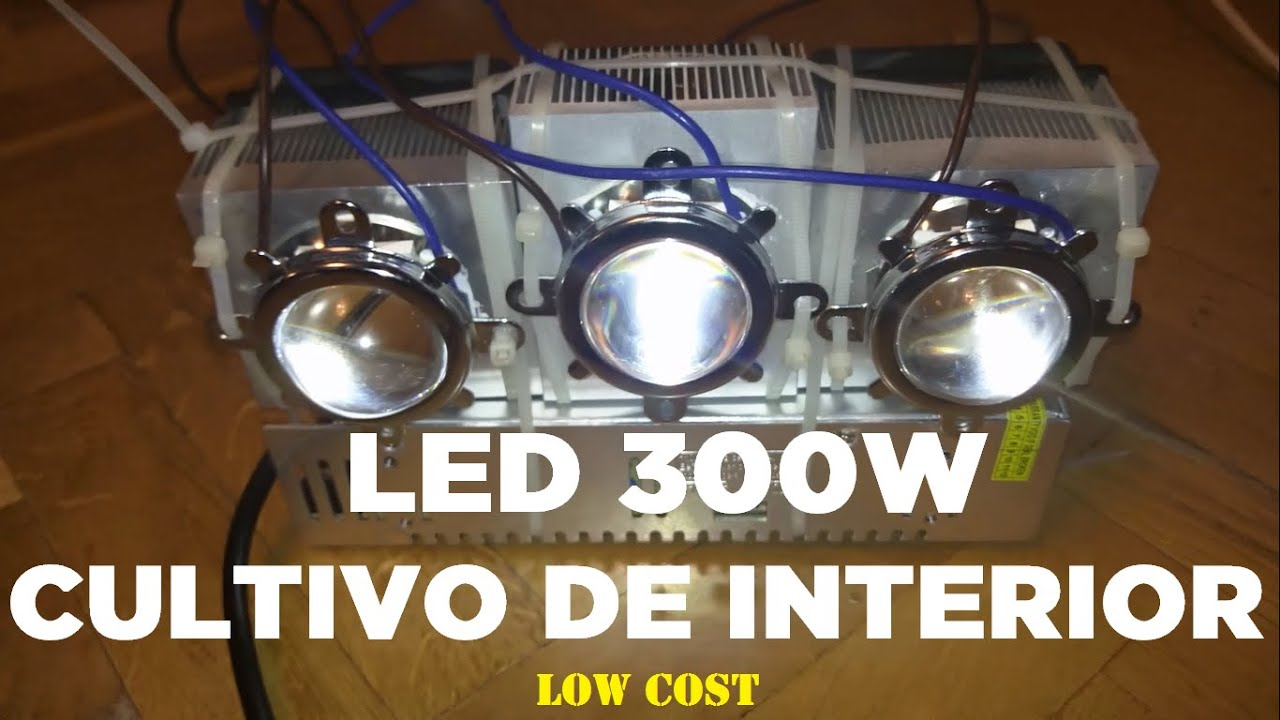 Como hacer un led de cultivo interior de 300w 70 full spectrum indoor low cost de alta - Pantalla led cultivo interior ...