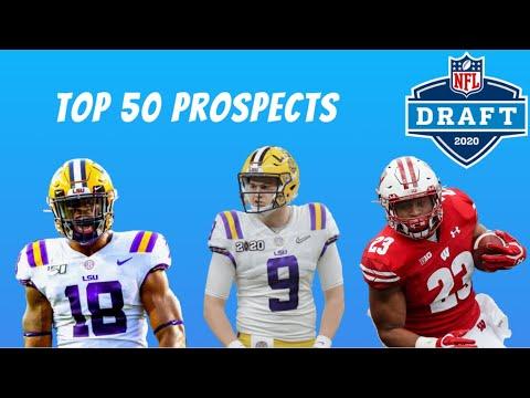 Top 50 Players in the 2020 NFL Draft  BIG BOARD Mock Draft