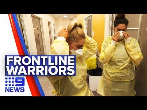 Coronavirus: Nurses Afraid To Go Home To Avoid Spread | Nine News Australia