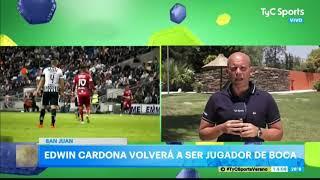 Edwin Cardona, a un paso de la vuelta a Boca