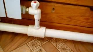 как сделать водяное отопление из трубы