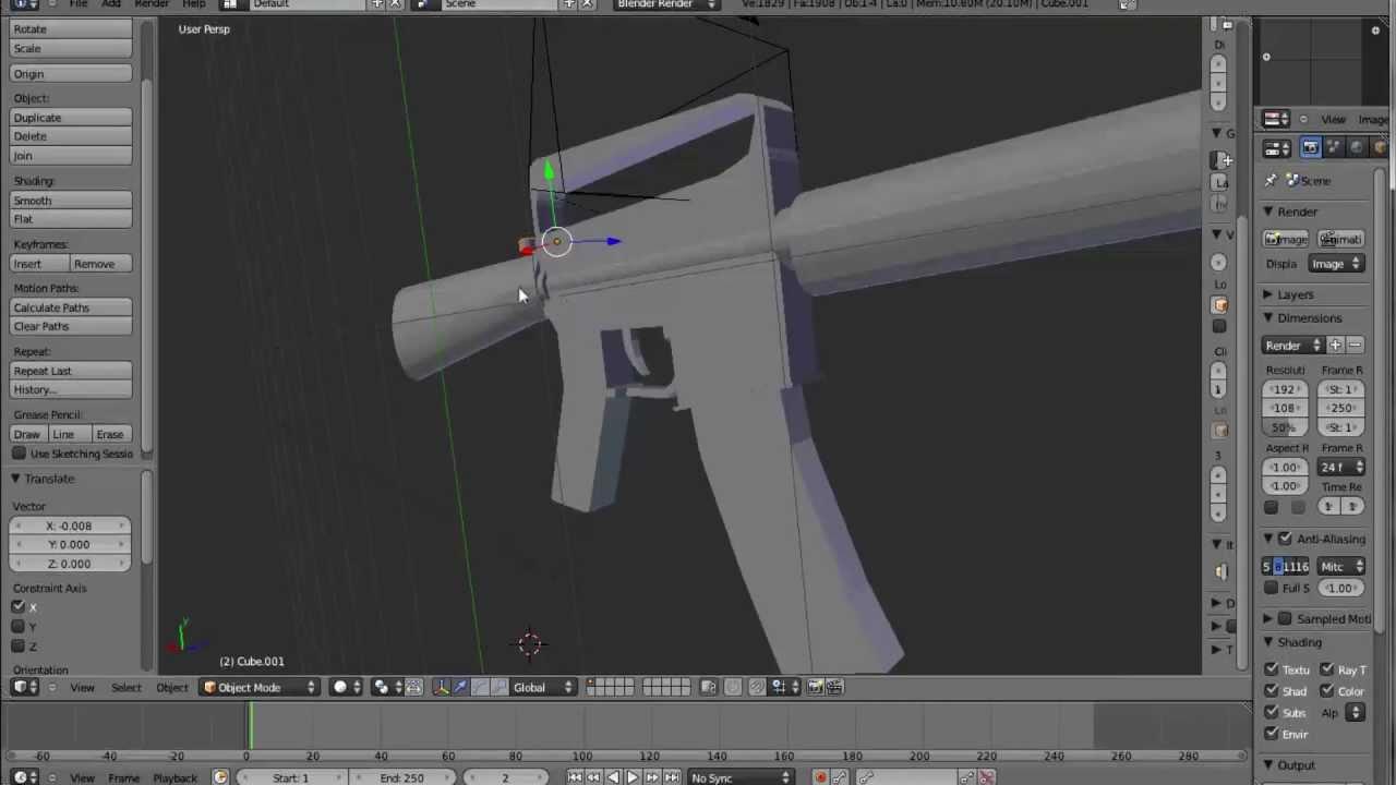3D M16A3 Assault gun (Free blender model) - YouTube