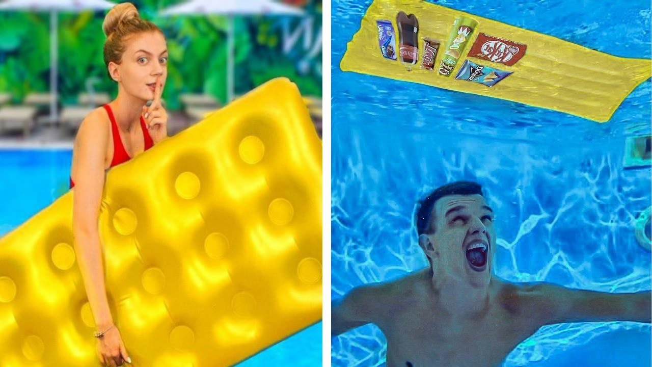Cool Ways to Sneak Food into the Pool by Mariana ZD