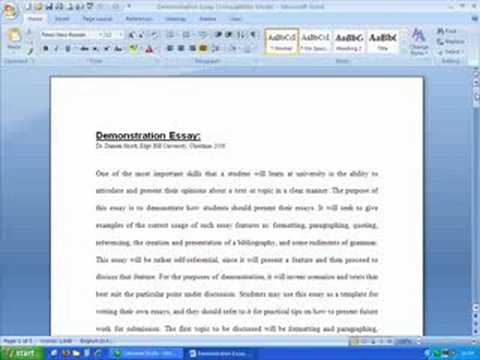 demonstration essay
