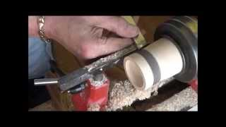 Woodturning At 54a.  #3  A  Tea-light Holder With Texture