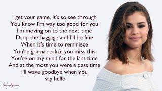 Selena Gomez & The Scene - Sick Of You (Lyrics) 🎵