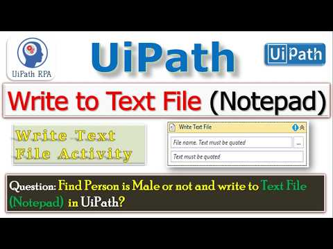 Write to Text File(Notepad)||Find Person is Male or not