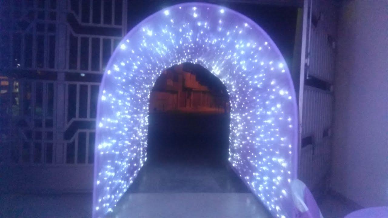 Como armar un tunel led muy facil youtube - Como decorar con cortinas ...