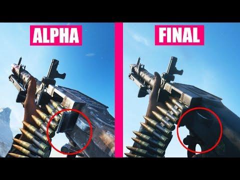 Battlefield 5 Final vs Alpha Version Weapons Comparison |