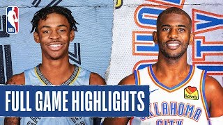 GRIZZLIES at THUNDER | FULL GAME HIGHLIGHTS | December 26, 2019