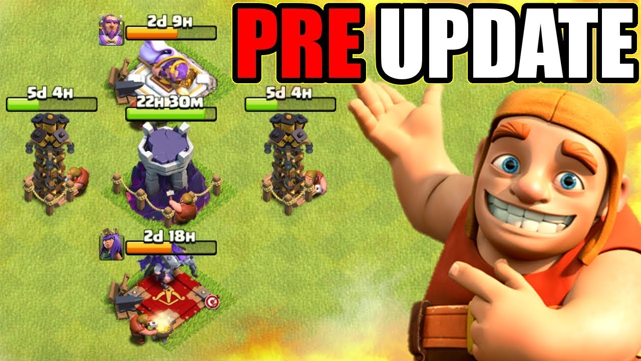 huge upgrades pre update 2019 clash of clans youtube. Black Bedroom Furniture Sets. Home Design Ideas