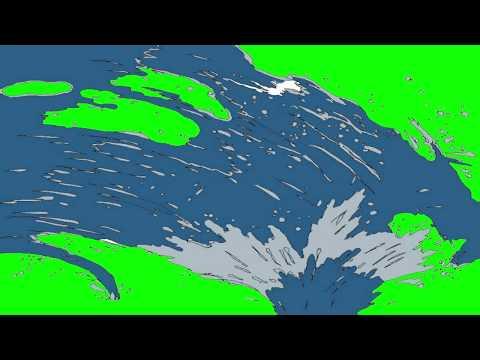 Green Screen Transitions Wave Overlays HD chrome key Футаж Переход волна хромакей вода